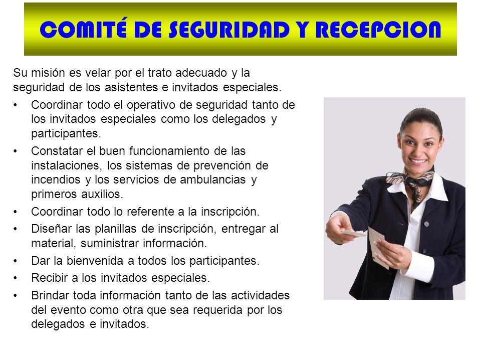 COMITÉ DE SEGURIDAD Y RECEPCION