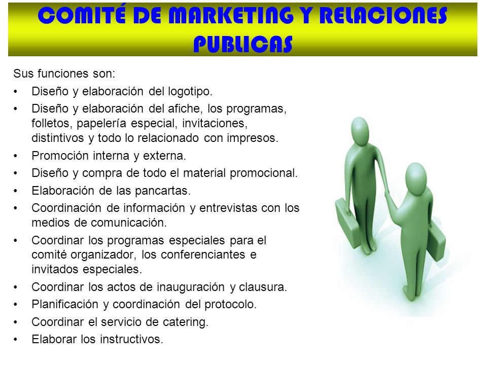 COMITÉ DE MARKETING Y RELACIONES PUBLICAS