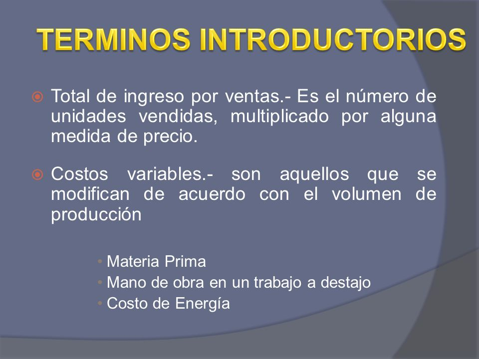 TERMINOS INTRODUCTORIOS