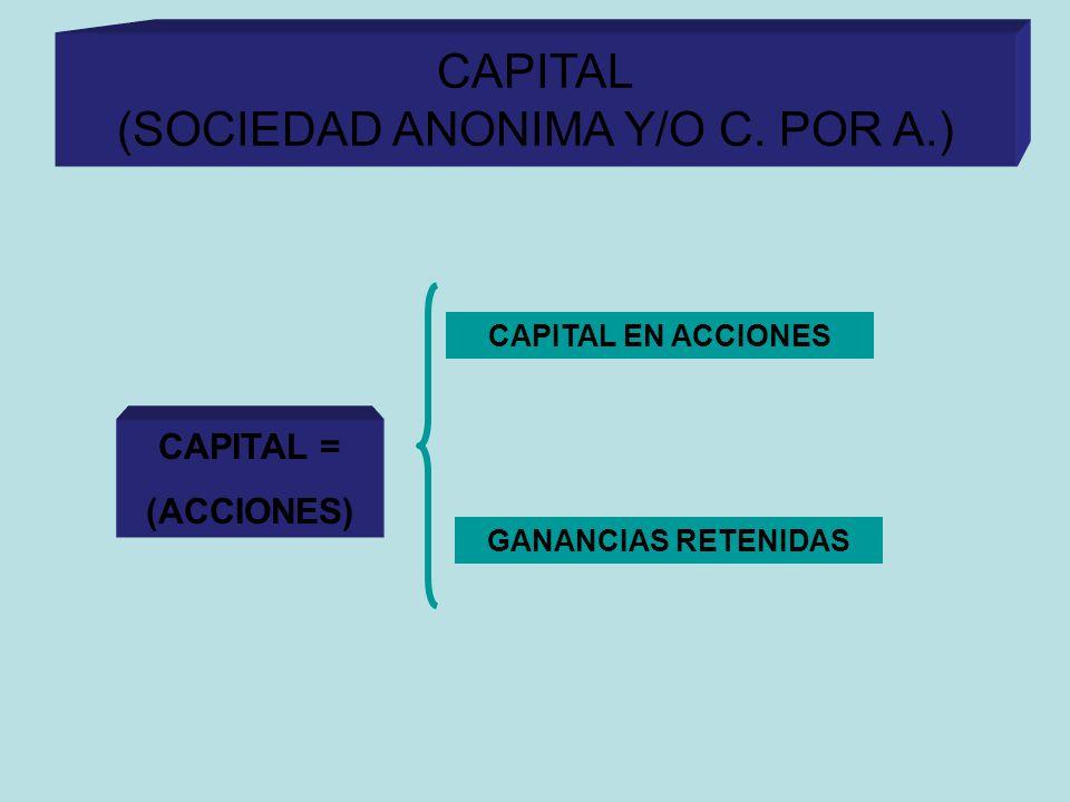 CAPITAL (SOCIEDAD ANONIMA Y/O C. POR A.)