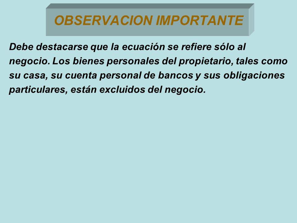 OBSERVACION IMPORTANTE