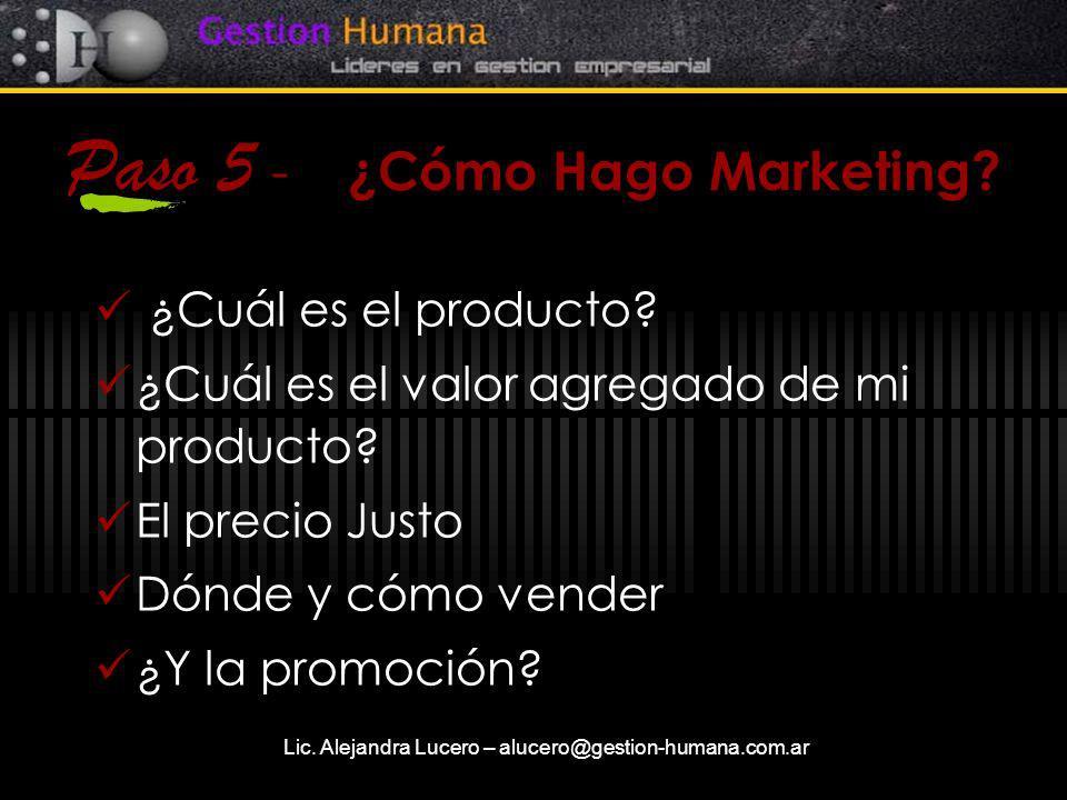 Paso 5 - ¿Cómo Hago Marketing