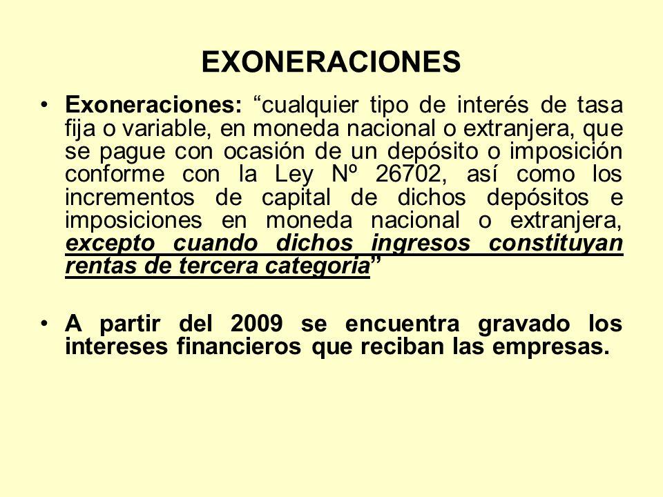 EXONERACIONES