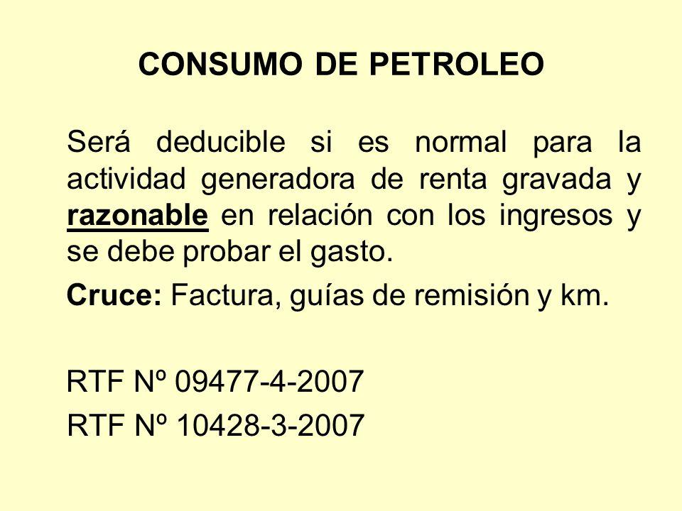 CONSUMO DE PETROLEO