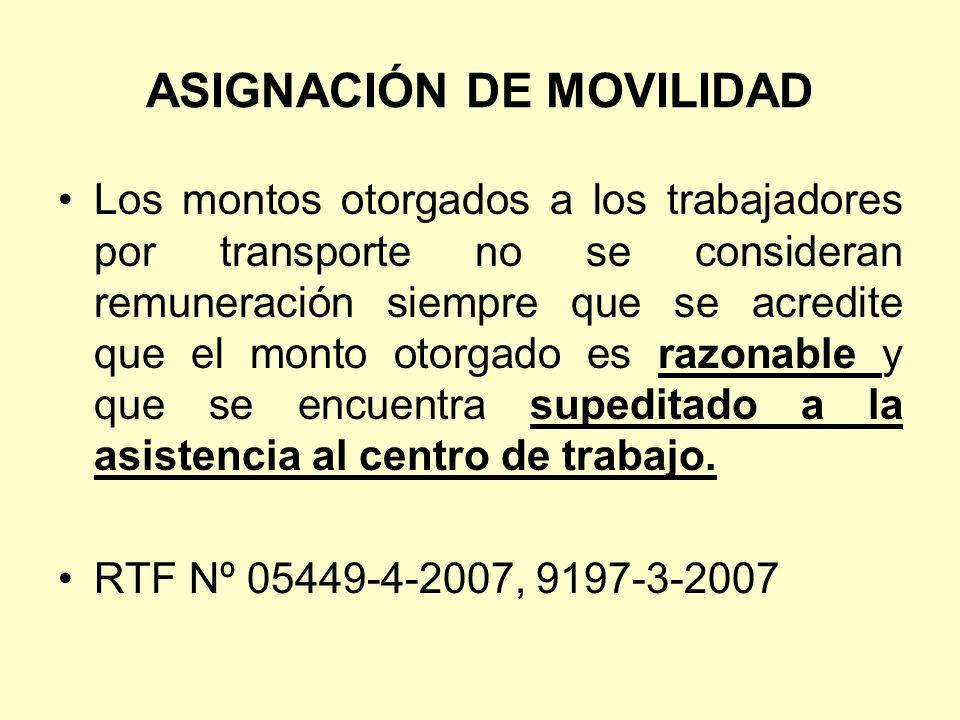 ASIGNACIÓN DE MOVILIDAD