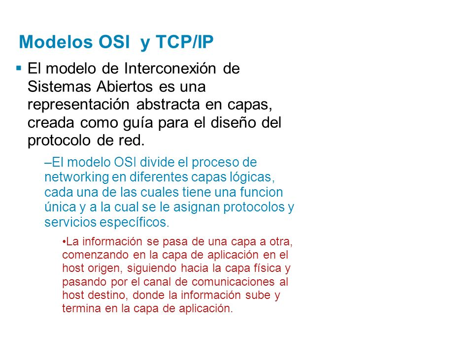 Modelos OSI y TCP/IP