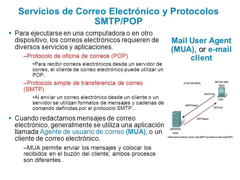 Servicios de Correo Electrónico y Protocolos SMTP/POP