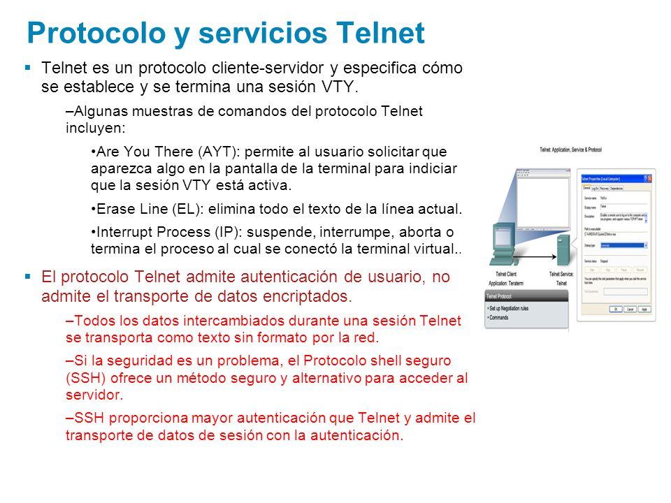 Protocolo y servicios Telnet