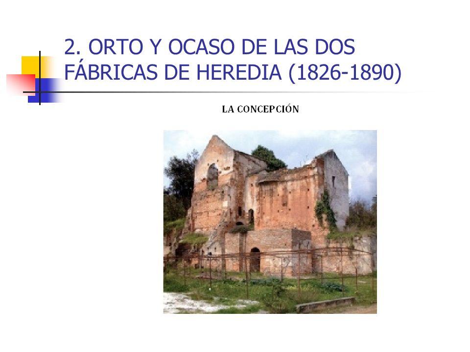2. ORTO Y OCASO DE LAS DOS FÁBRICAS DE HEREDIA (1826-1890)