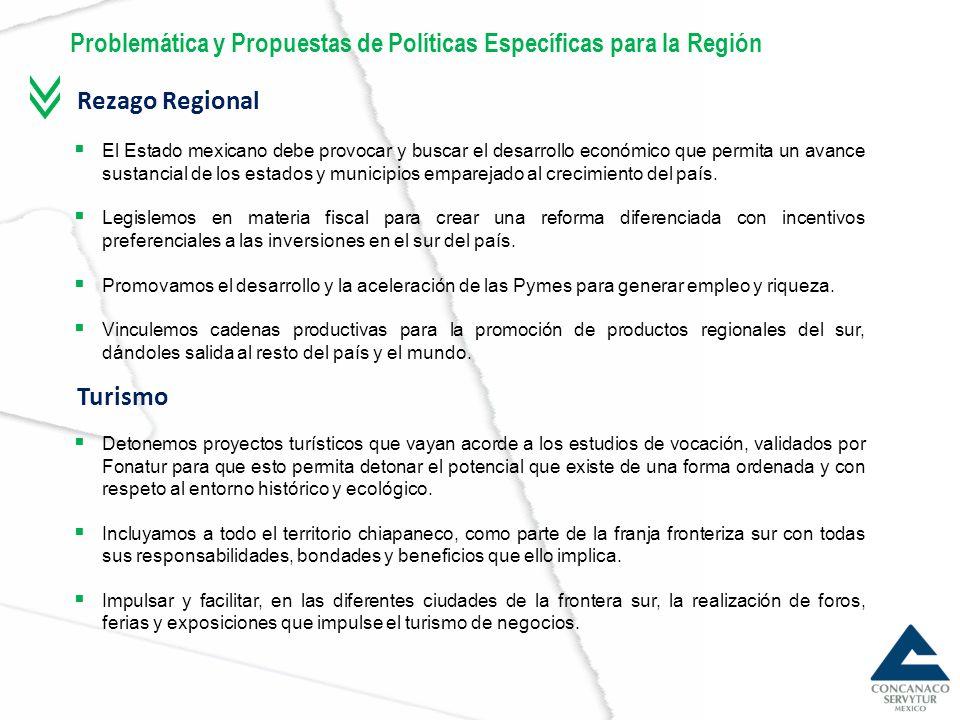 Problemática y Propuestas de Políticas Específicas para la Región
