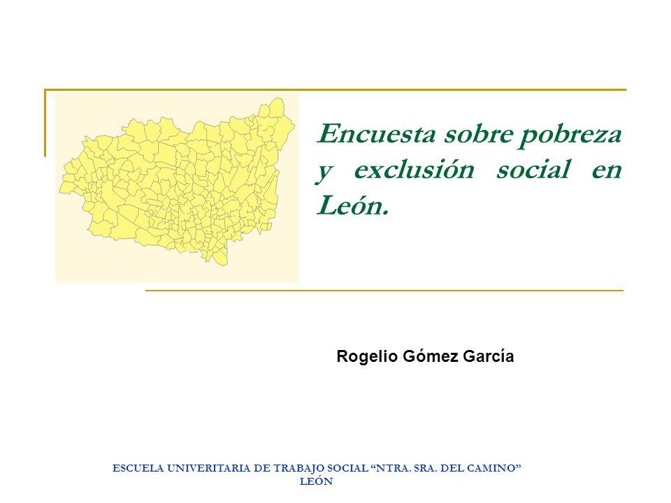 Encuesta sobre pobreza y exclusión social en León.