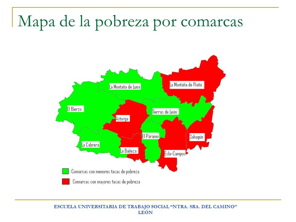 Mapa de la pobreza por comarcas