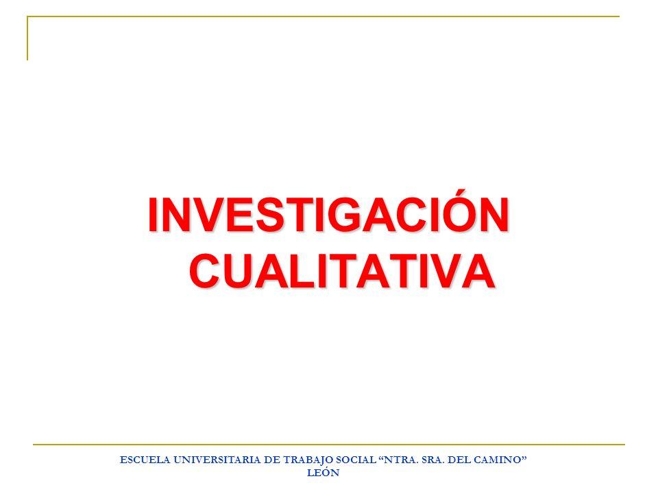 INVESTIGACIÓN CUALITATIVA