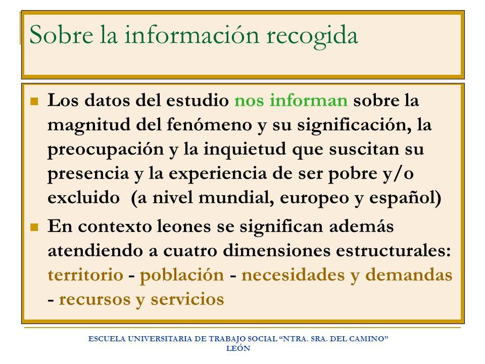 Sobre la información recogida