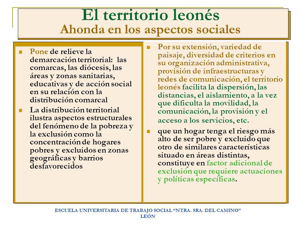 El territorio leonés Ahonda en los aspectos sociales