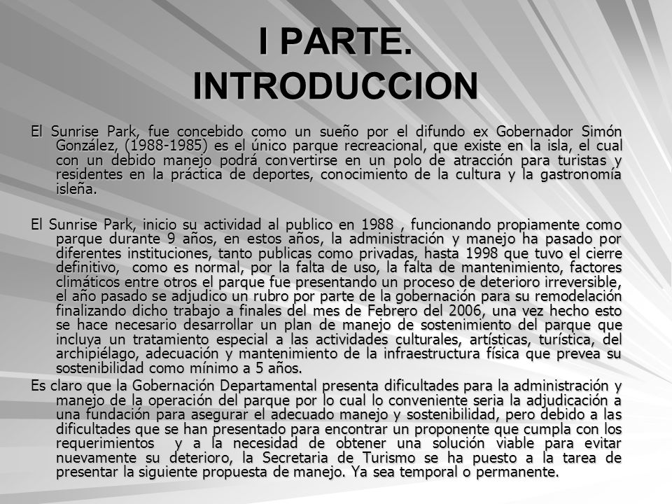 I PARTE. INTRODUCCION