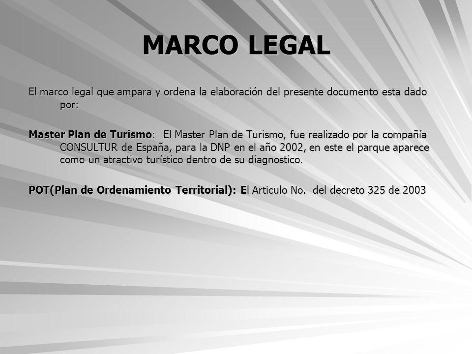 MARCO LEGAL El marco legal que ampara y ordena la elaboración del presente documento esta dado por: