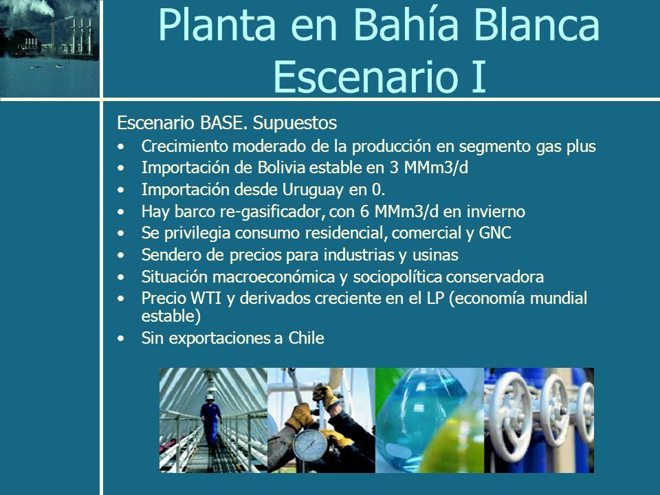 Planta en Bahía Blanca Escenario I