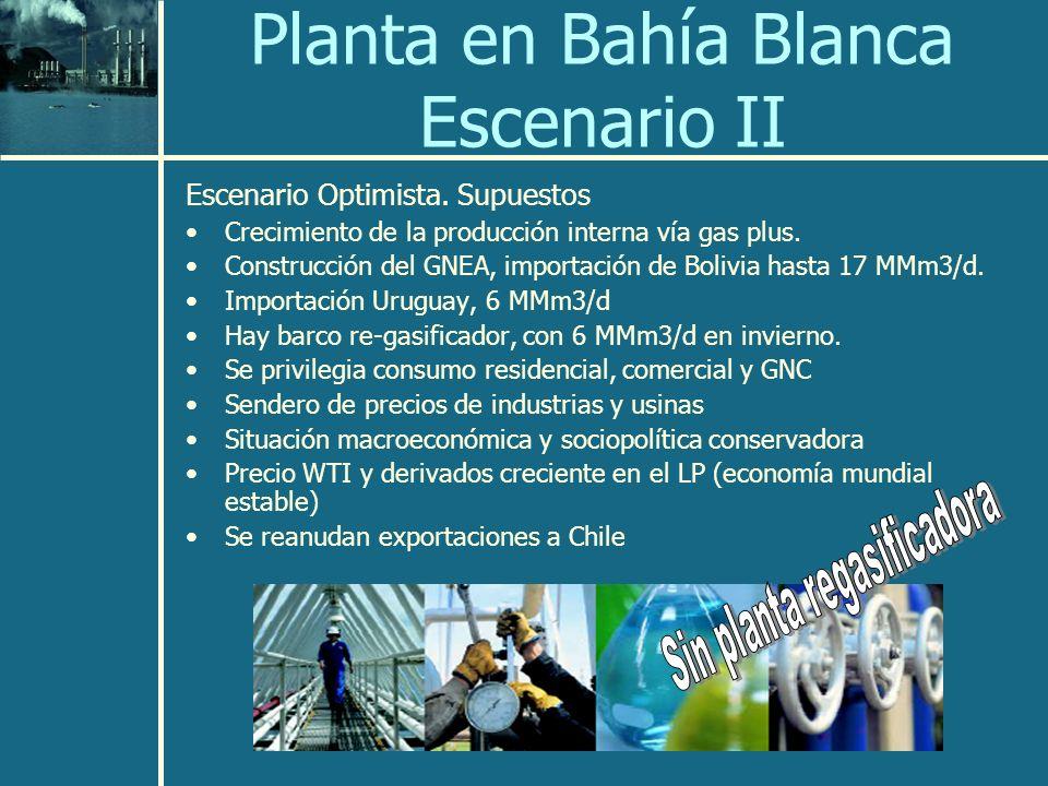 Planta en Bahía Blanca Escenario II
