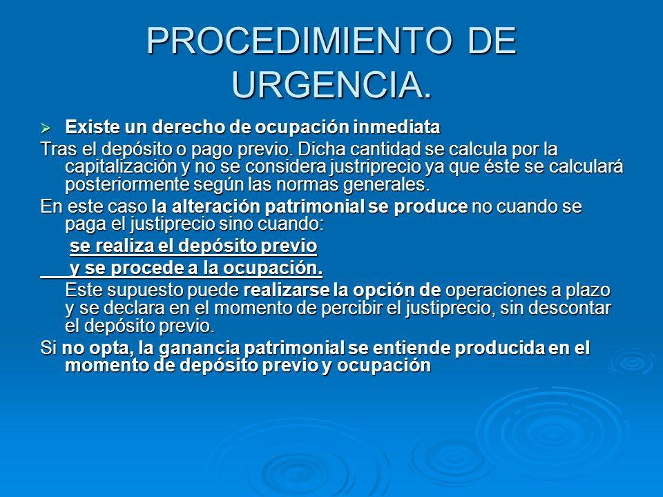 PROCEDIMIENTO DE URGENCIA.