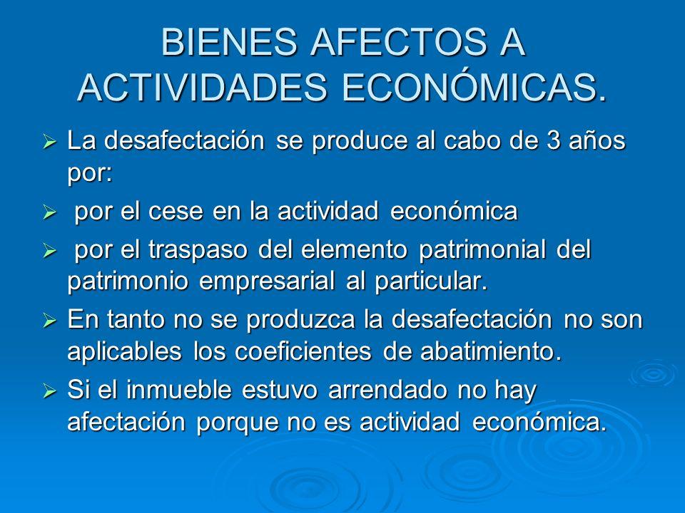 BIENES AFECTOS A ACTIVIDADES ECONÓMICAS.