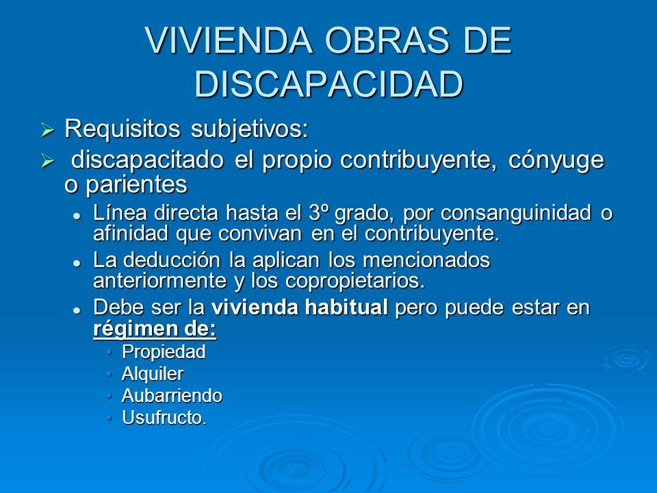 VIVIENDA OBRAS DE DISCAPACIDAD