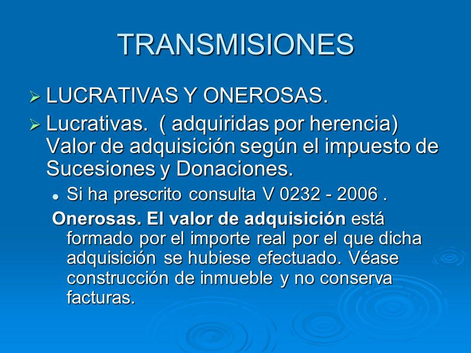 TRANSMISIONES LUCRATIVAS Y ONEROSAS.