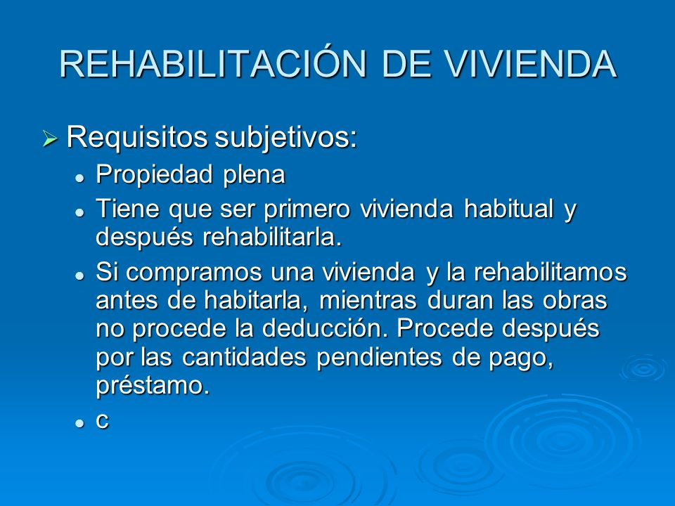 REHABILITACIÓN DE VIVIENDA