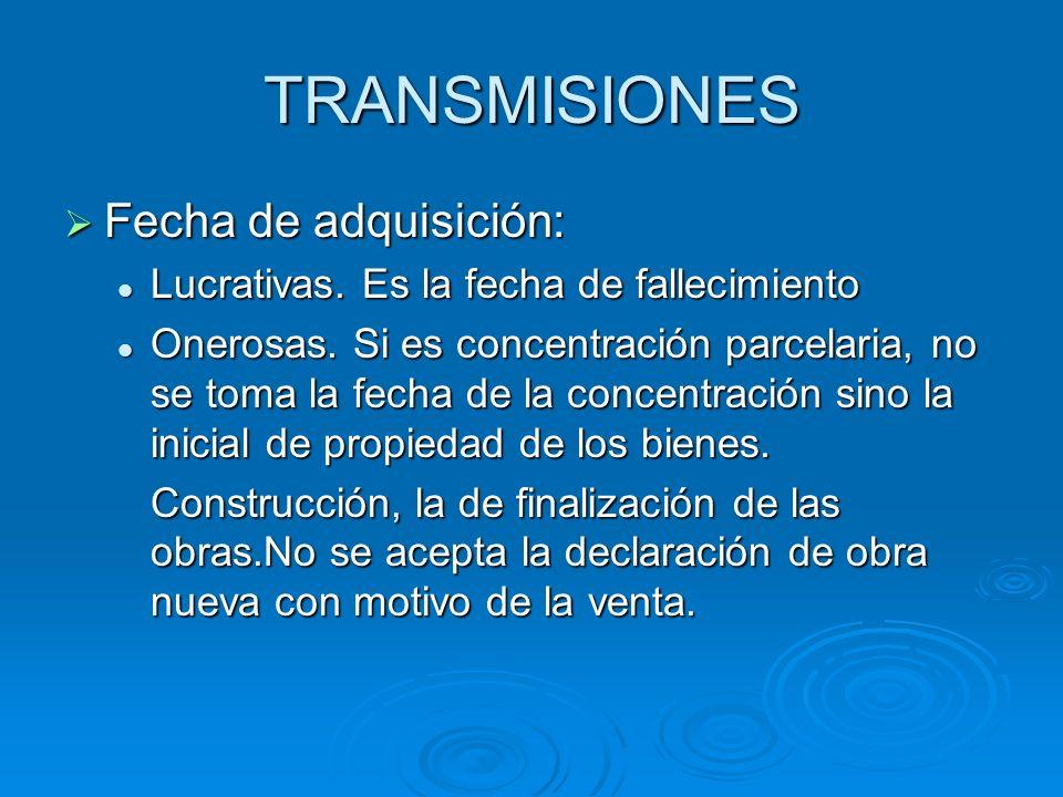 TRANSMISIONES Fecha de adquisición: