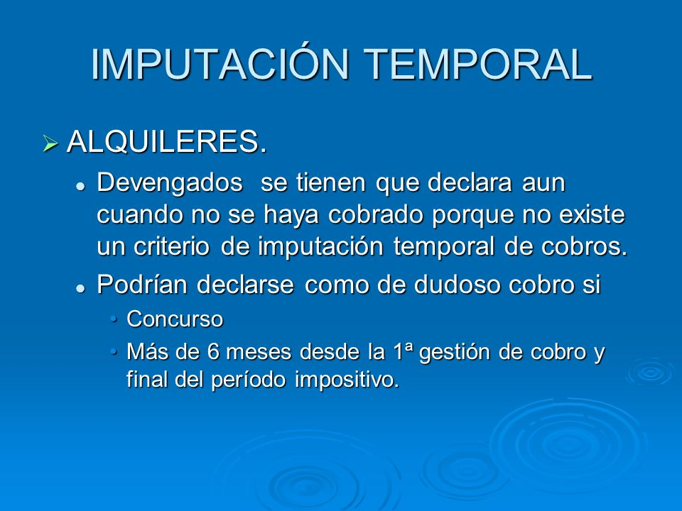 IMPUTACIÓN TEMPORAL ALQUILERES.