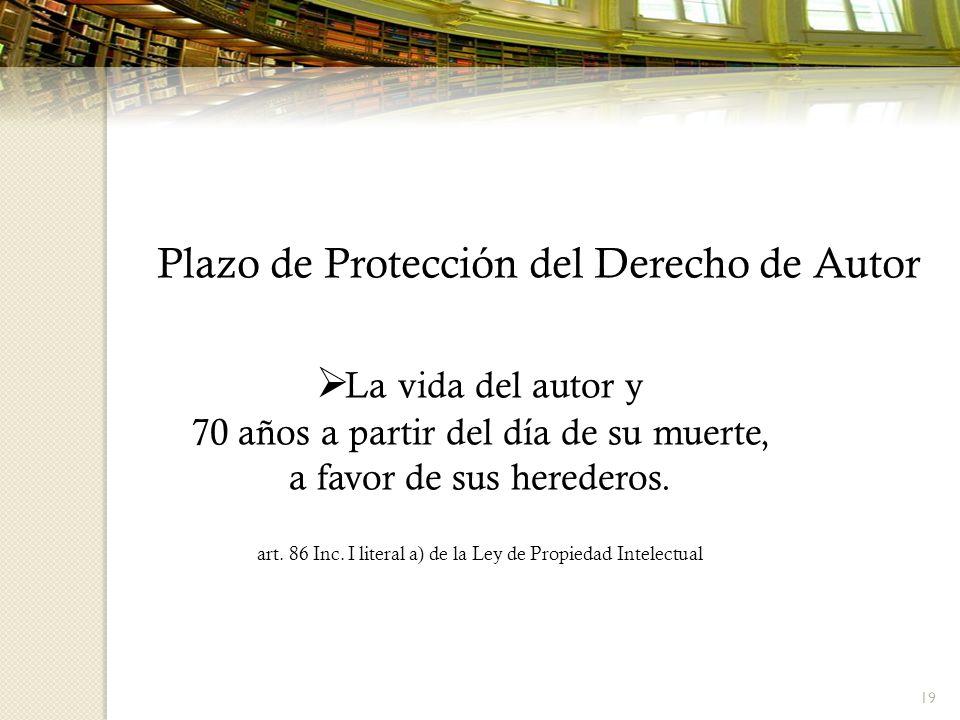 Plazo de Protección del Derecho de Autor