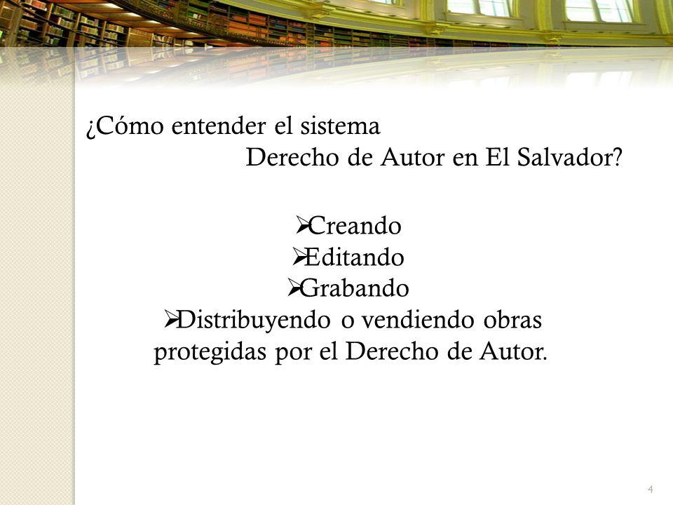 ¿Cómo entender el sistema Derecho de Autor en El Salvador