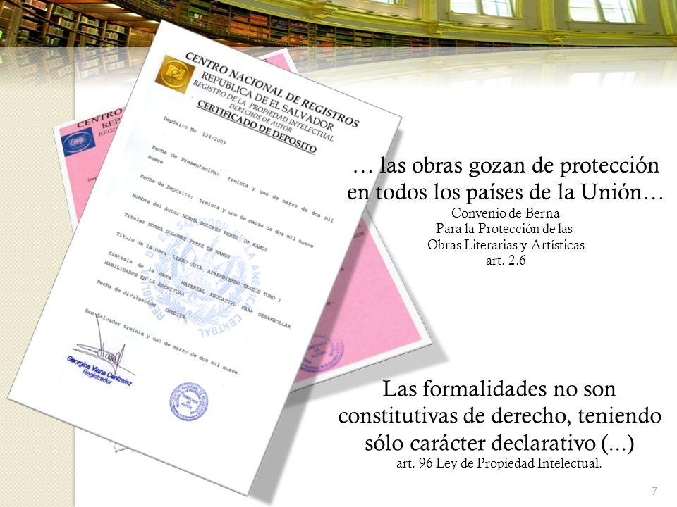 … las obras gozan de protección en todos los países de la Unión…