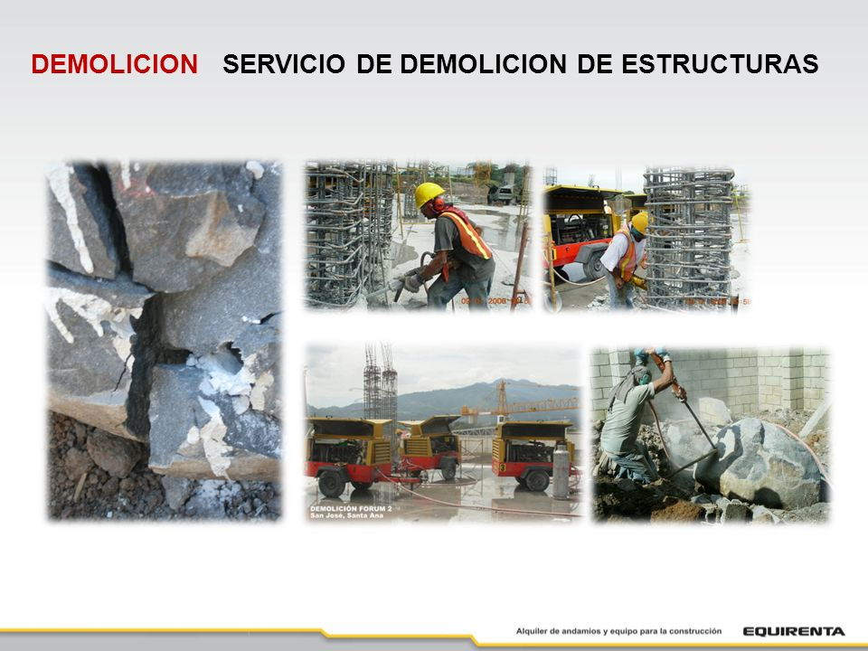 DEMOLICION SERVICIO DE DEMOLICION DE ESTRUCTURAS