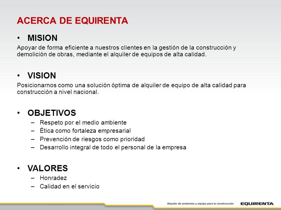 ACERCA DE EQUIRENTA MISION VISION OBJETIVOS VALORES