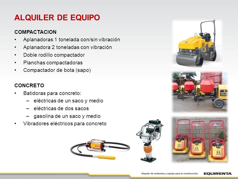 ALQUILER DE EQUIPO COMPACTACION