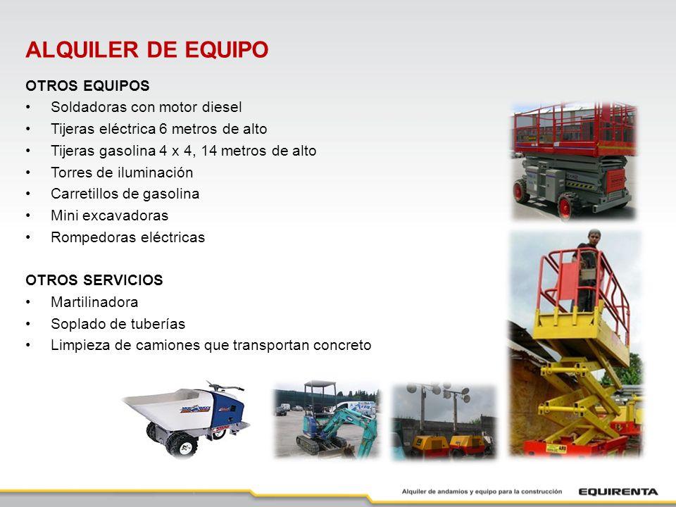ALQUILER DE EQUIPO OTROS EQUIPOS Soldadoras con motor diesel