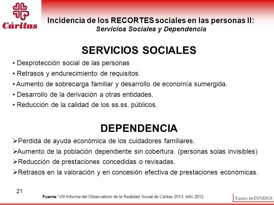 SERVICIOS SOCIALES DEPENDENCIA