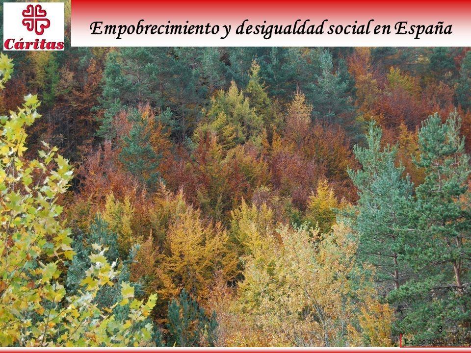 Empobrecimiento y desigualdad social en España