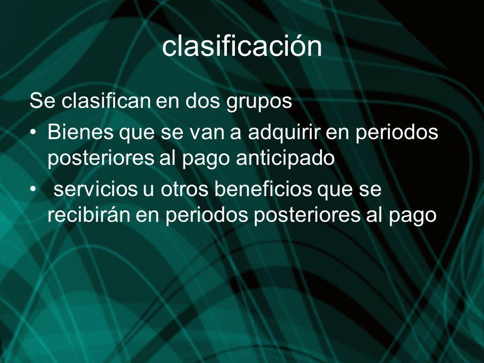 clasificación Se clasifican en dos grupos