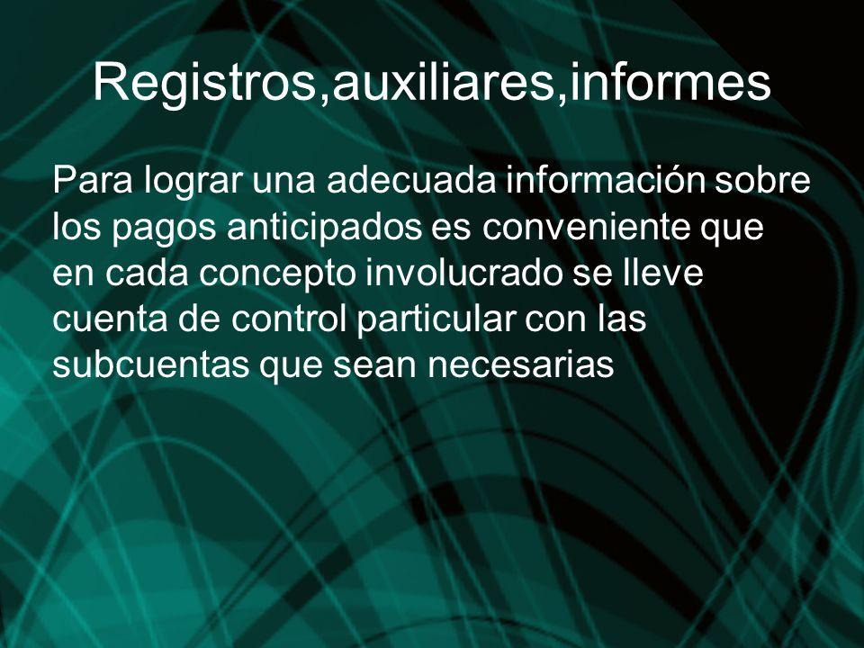 Registros,auxiliares,informes