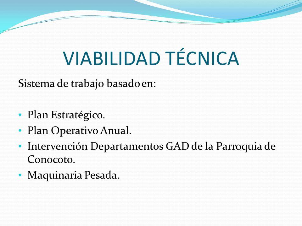 VIABILIDAD TÉCNICA Sistema de trabajo basado en: Plan Estratégico.