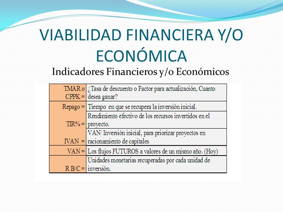 VIABILIDAD FINANCIERA Y/O ECONÓMICA
