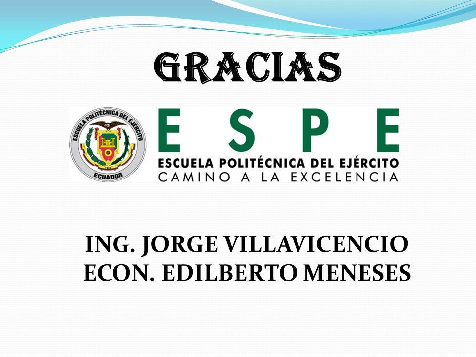 ING. JORGE VILLAVICENCIO ECON. EDILBERTO MENESES