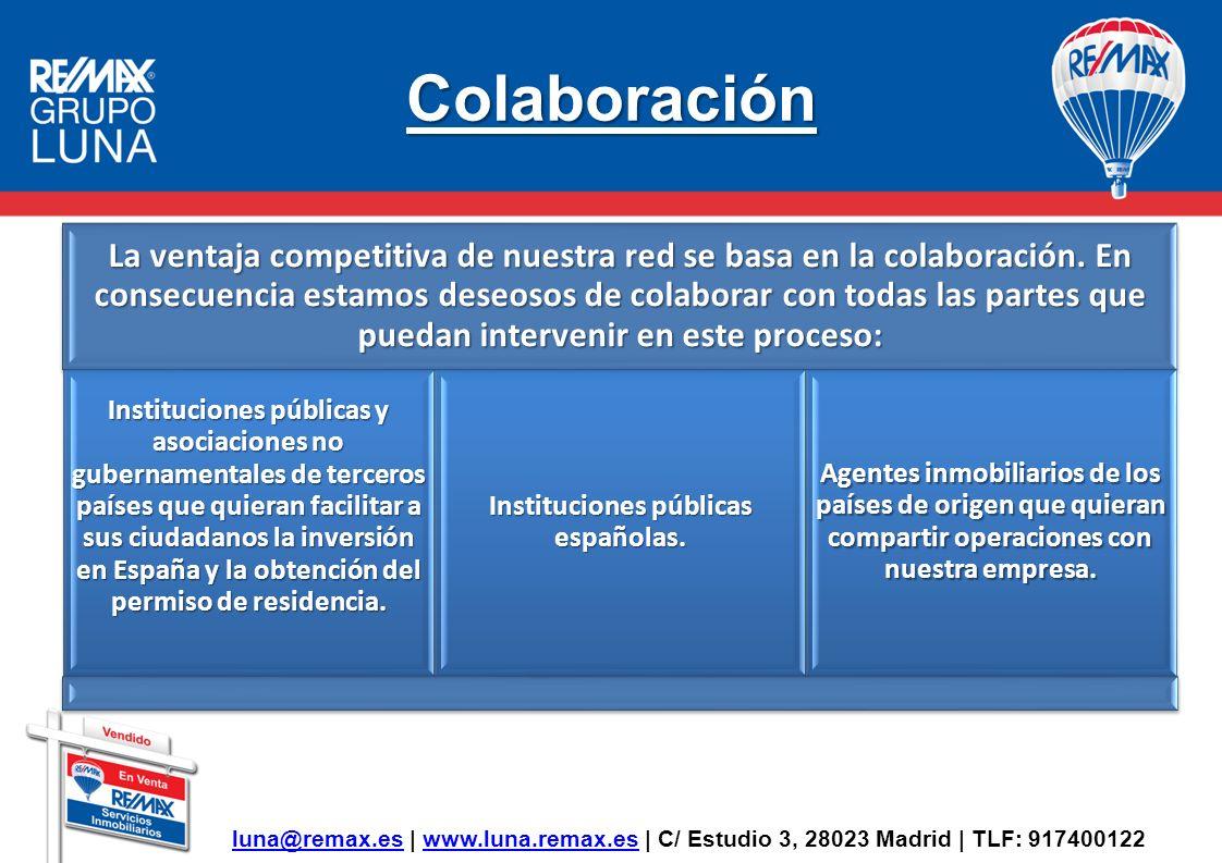 Colaboración luna@remax.es | www.luna.remax.es | C/ Estudio 3, 28023 Madrid | TLF: 917400122