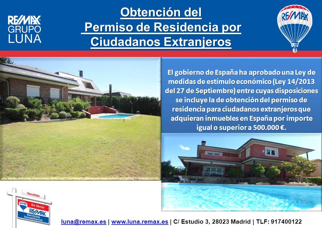 Permiso de Residencia por Ciudadanos Extranjeros