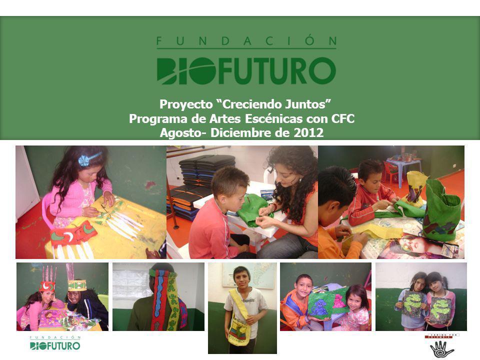 Proyecto Creciendo Juntos Programa de Artes Escénicas con CFC