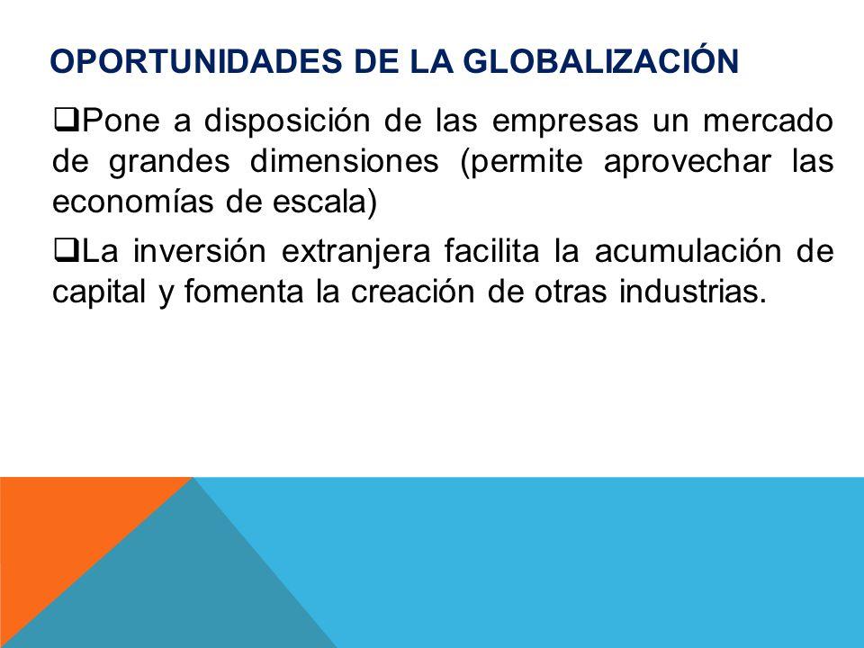 Oportunidades de la Globalización