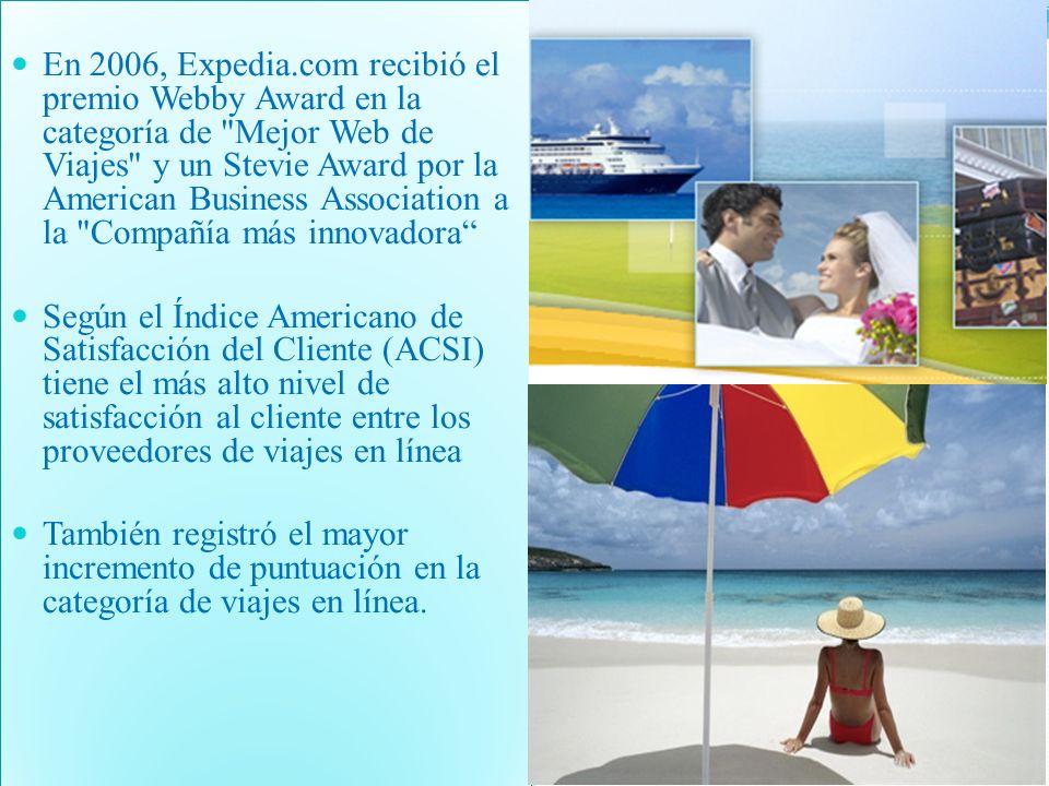 En 2006, Expedia.com recibió el premio Webby Award en la categoría de Mejor Web de Viajes y un Stevie Award por la American Business Association a la Compañía más innovadora