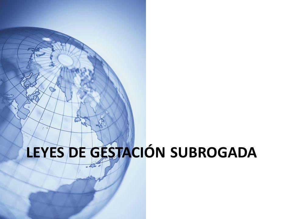 LEYES DE GESTACIÓN SUBROGADA